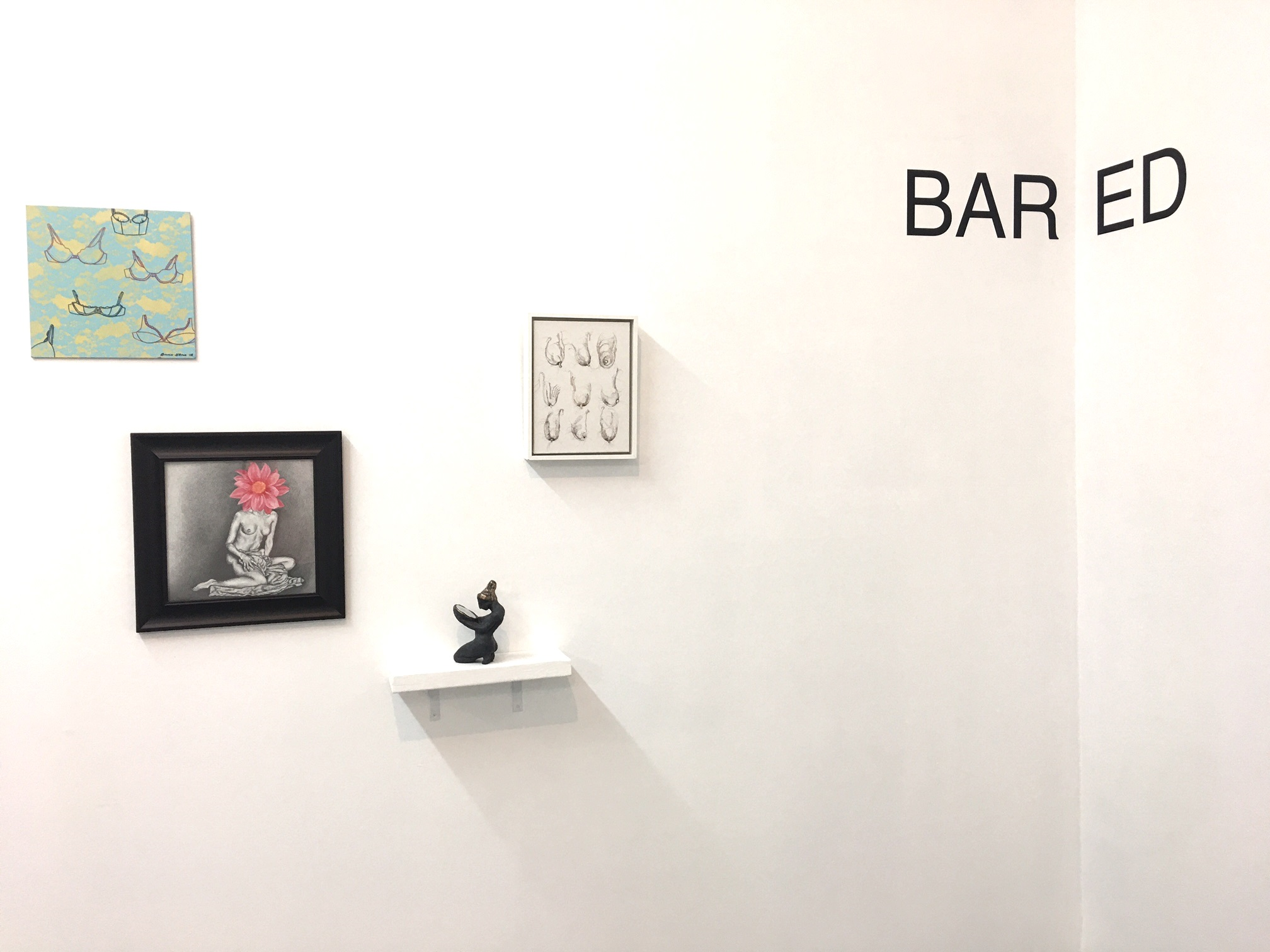 BARED, belgin yucelen sculpture, group exhibition at the Ground Floor Gallery Nashville Tennessee 1