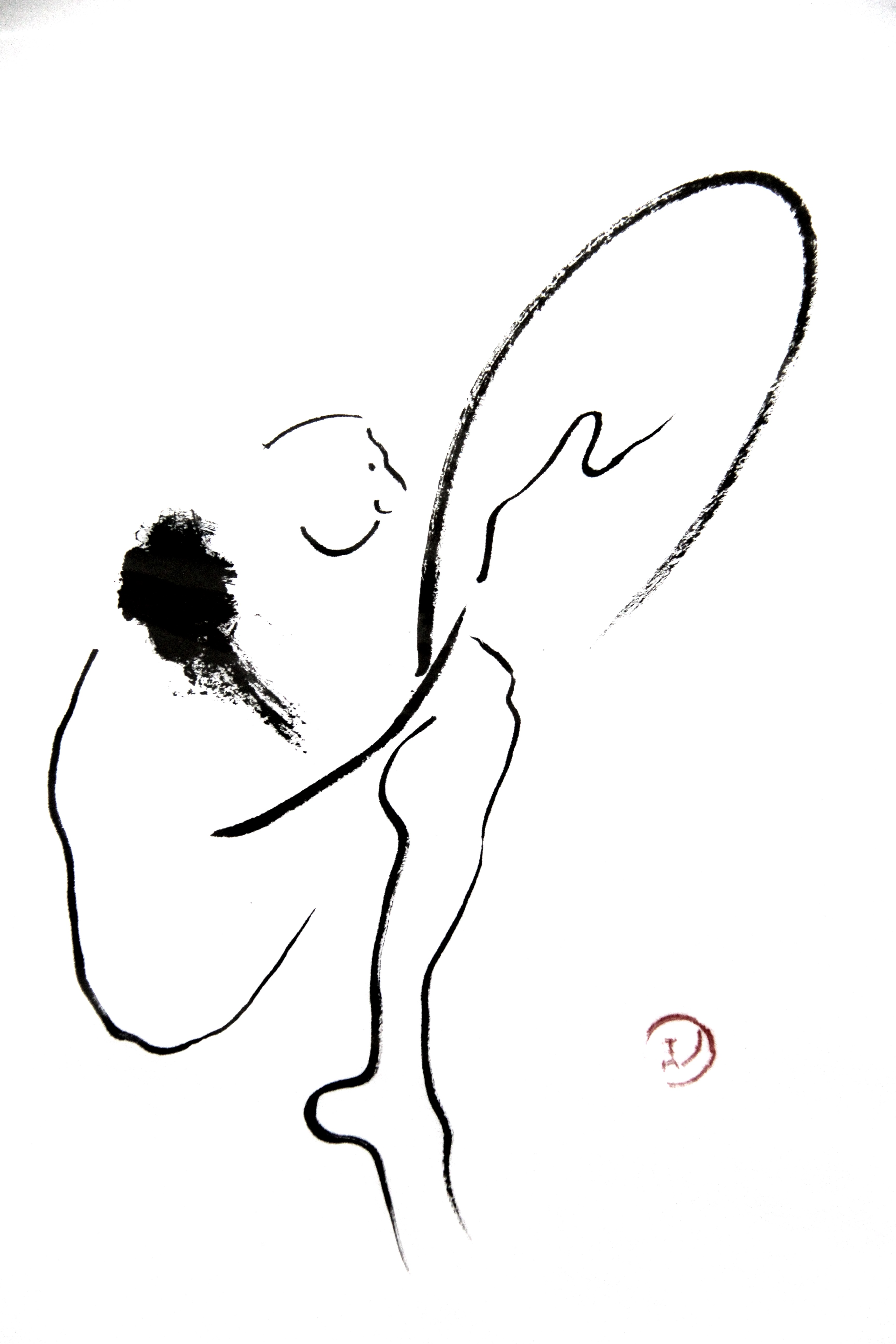 man and the bird