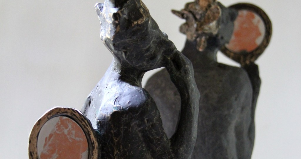 Figurative bronze contemporary sculptures by Belgin Yucelen