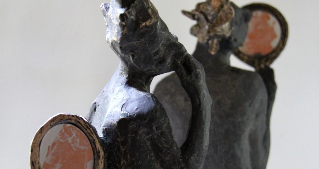 Figurative bronze contemporary sculptures by Belgin Yucelen