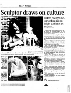 belgin yucelen, sculptor, sculpture, figurative sculpture, bronze, contemporary art, turkish artist, publication, art critique