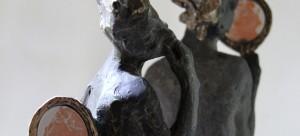Figurative bronze contemporary sculptures by Belgin Yucelen, contemporary, museum, bronze,  conceptual sculpture, philosophical sculpture., modern art, modern sculpture