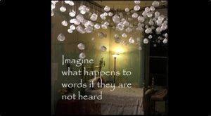 words, installation, contemporary art, museum, audio, audio installation, textile installation, fabric installation, textile art, artwork, Chicago, modern art, solo exhibition, Belgin Yucelen, fabric sculpture