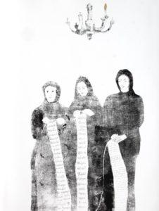 print, monoprint, contemporary art, art, artist, ink, black, black and white, paper, printmaker, religion, iran, poetry, god, installation, contemporary, artist