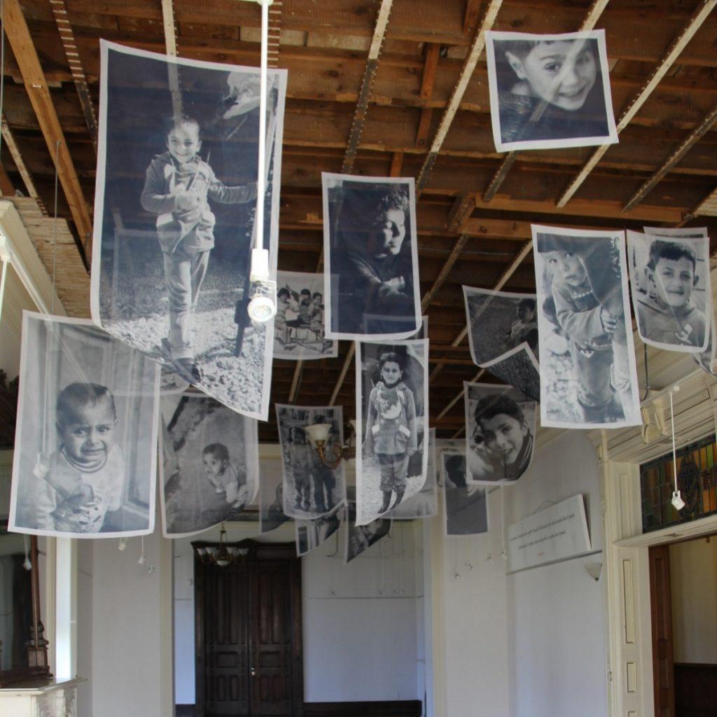 Floating Children Installation by Belgin Yucelen at the Dole Mansion