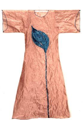 Silk Robe with Tulip by Belgin Yucelen